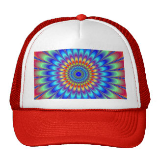 Pulsating Colors Illusion Trucker Hat