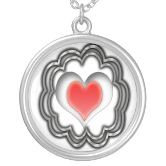 Pulsating Heart... Silver Plated Necklace
