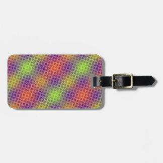 Pulsating neon pattern bag tag
