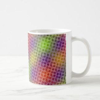Pulsating neon pattern coffee mug