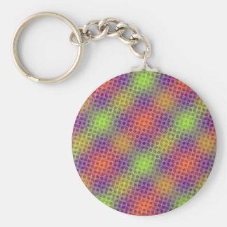 Pulsating neon pattern keychain