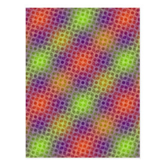 Pulsating neon pattern postcard