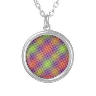Pulsating neon pattern silver plated necklace