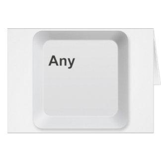 Pulse cualquier tecla tarjeta de felicitación