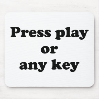 Pulse el juego o cualquier tecla alfombrilla de raton