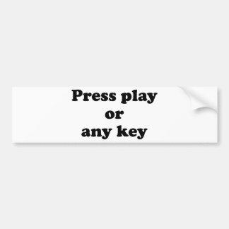 Pulse el juego o cualquier tecla pegatina para auto