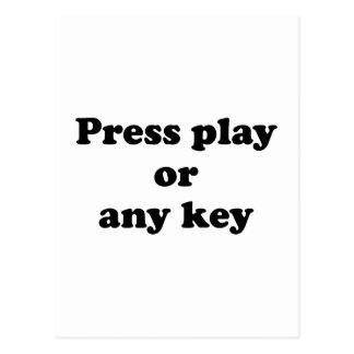 Pulse el juego o cualquier tecla postales