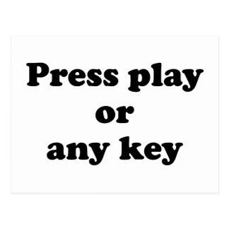 Pulse el juego o cualquier tecla tarjeta postal