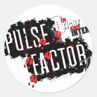 Pulse Factor TV Gear Classic Round Sticker