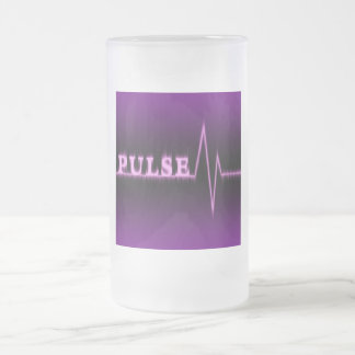 Pulse Frosted 10 oz Frosted Glass Mug
