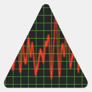 Pulse - Heart Monitor Triangle Sticker