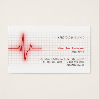 Pulse Heart Signal Cardiology business card