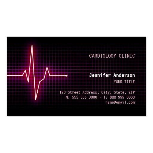 Pulse Heartbeat Cardiology business card