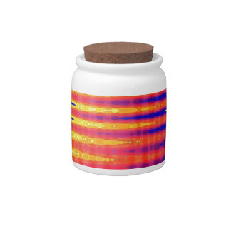 Pulse in bright abstract colours. candy jar