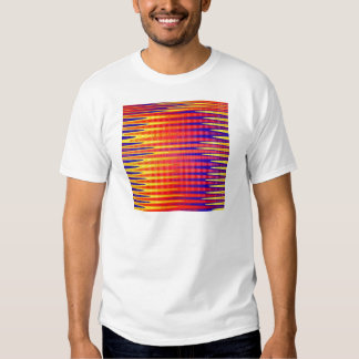 Pulse in bright abstract colours. shirt