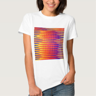 Pulse in bright abstract colours. tee shirt