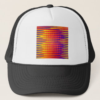 Pulse in bright abstract colours. trucker hat