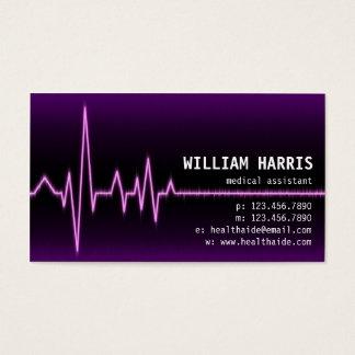 Pulse Meter - Purple Business Card