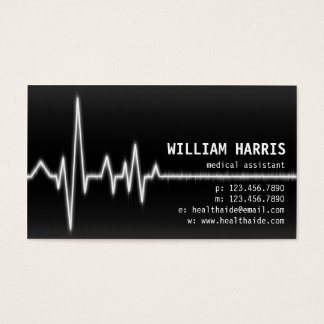 Pulse Meter - White Business Card
