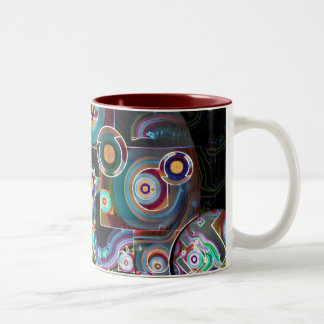 Pulse of the Motherboard Two-Tone Coffee Mug
