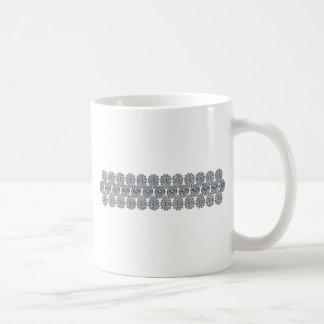 Pulsera ancha del diamante taza de café