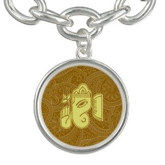 Pulsera con dije de la deidad hindú de Ganesha