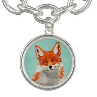 Pulsera con dije del Fox rojo