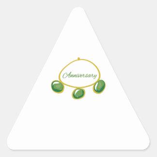 Pulsera del aniversario calcomanías trianguladas personalizadas