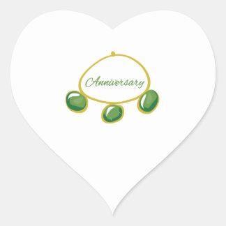 Pulsera del aniversario pegatina de corazon personalizadas