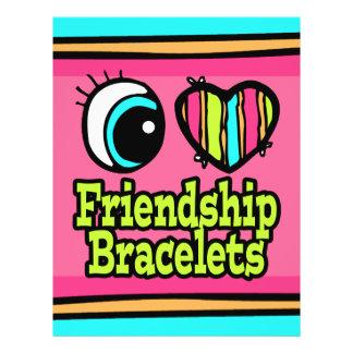 """Pulseras brillantes de la amistad del amor del cor folleto 8.5"""" x 11"""""""