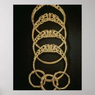 Pulseras del tesoro de Ertsfield, 4to ce del oro Posters