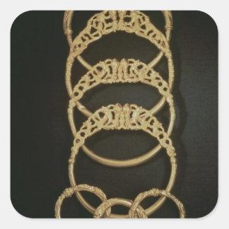 Pulseras del tesoro de Ertsfield, 4to ce del oro Calcomanías Cuadradas