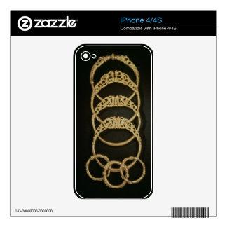 Pulseras del tesoro de Ertsfield, 4to ce del oro Skins Para eliPhone 4S