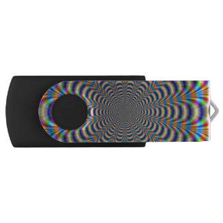Pulso anillado psicodélico pen drive giratorio USB 2.0