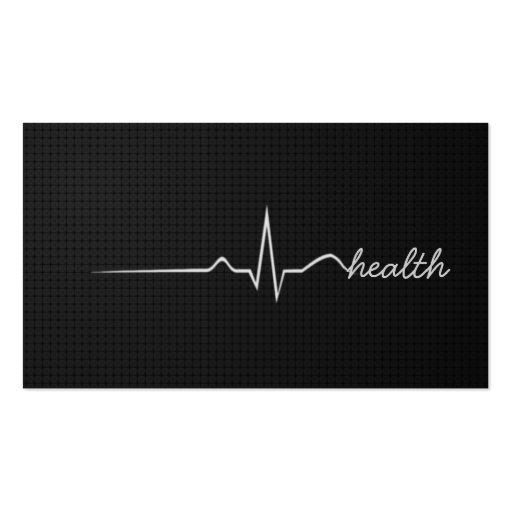 Pulso de la salud moderno tarjetas de visita