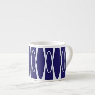 Pulso de los azules marinos taza espresso