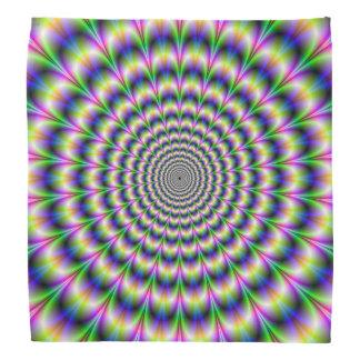 Pulso psicodélico del pañuelo en púrpura y verde bandana