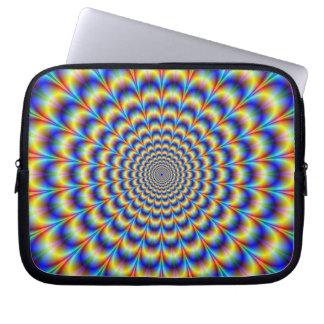 Pulso psicodélico en manga azul y amarilla del ord mangas computadora