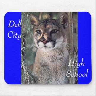 puma asentado, ciudad de Dell, High School secunda Alfombrillas De Ratón