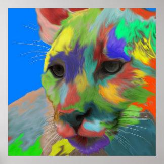 Puma (cepillado) póster
