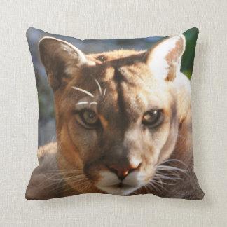 Puma Closeup Throw Pillows