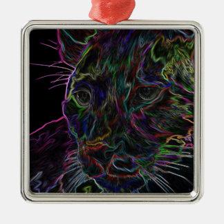 Puma de neón 2 ornamento de navidad