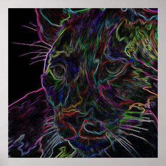 Puma de neón 2 póster