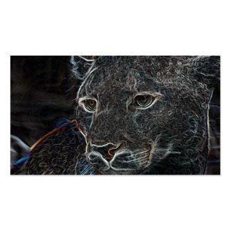 Puma de neón tarjetas personales
