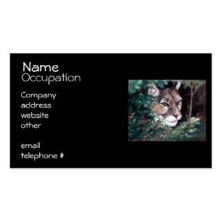 Puma de observación tarjetas de visita