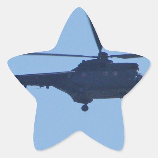 Puma de Westland Calcomanías Forma De Estrellas Personalizadas