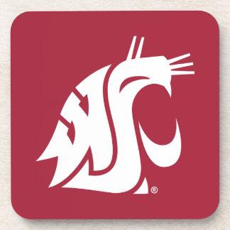 Puma del estado de Washington - blanco Posavasos De Bebidas