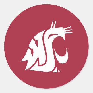 Puma del estado de Washington Pegatina Redonda