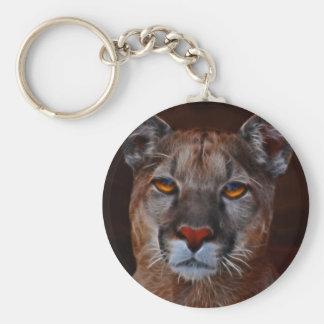 Puma del león de montaña llavero redondo tipo pin