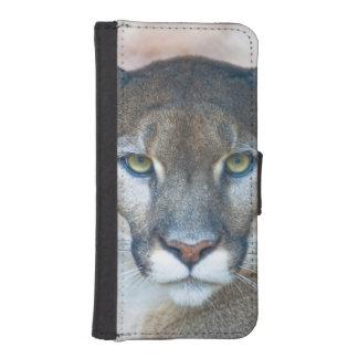 Puma, león de montaña, pantera de la Florida, puma Funda Tipo Cartera Para iPhone 5